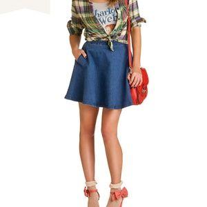 Demin Circle Skirt